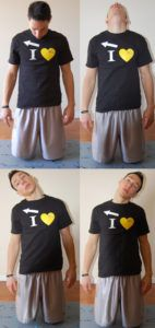 verschillende posities van de neck stretch oefening