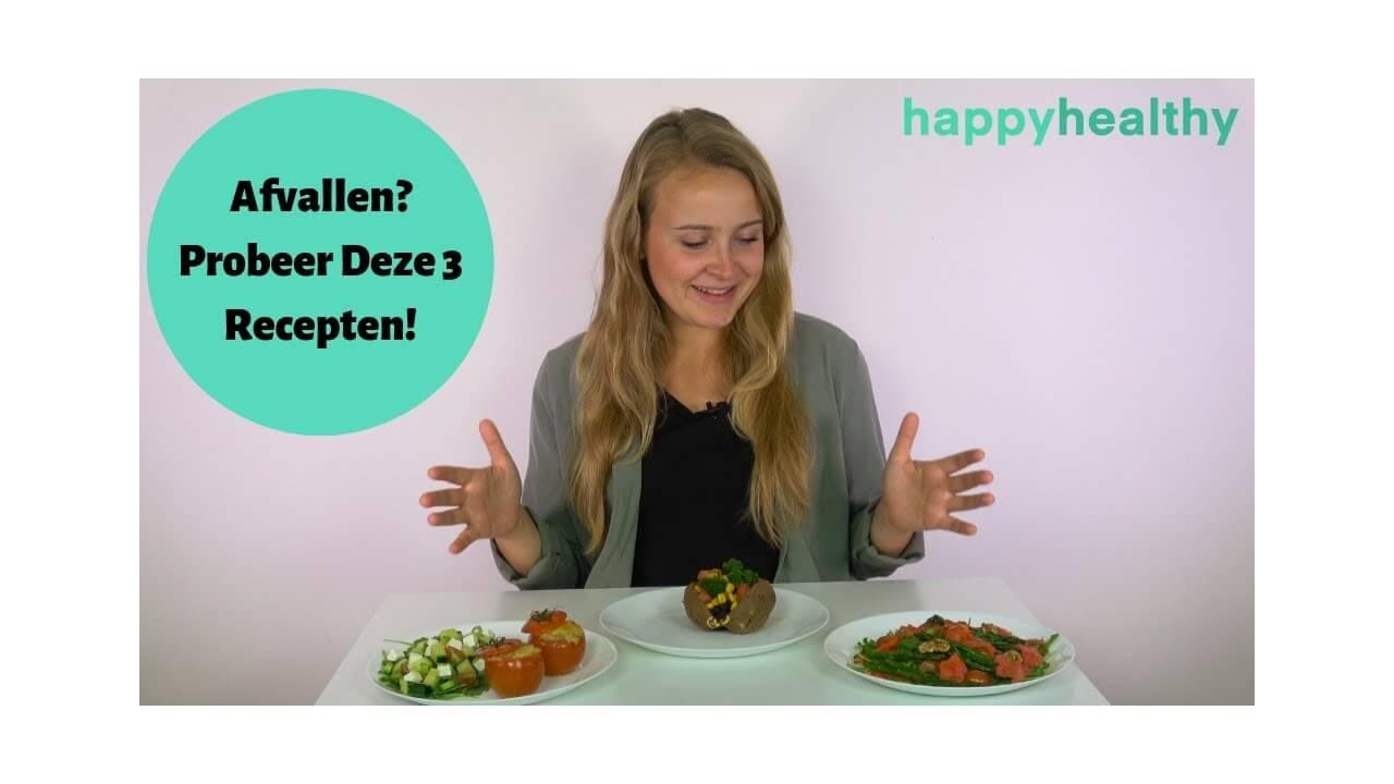 Video: 3 gezonde en lekkere recepten om mee af te slanken