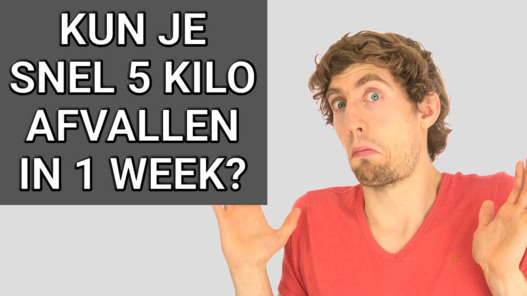 5 kilo afvallen in 1 week sporten