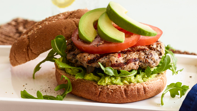 Burger time: Portobello Burger met Avocado en Spinazie