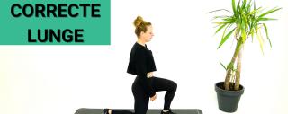 Video: Hoe je een Lunge Correct Doet - de oefening zonder gewichten voorgedaan