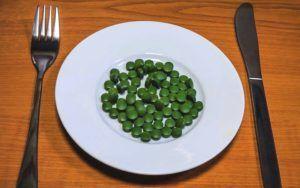 Chlorella-op-bord