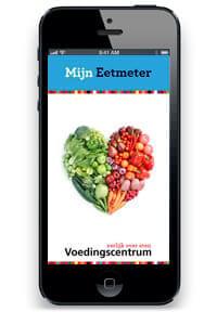 Eetmeter app van het Voedingscentrum op scherm smartphone