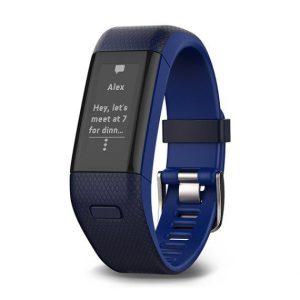 Garmin Vivosmart HR+ horloge kleur blauw op witte achtergrond
