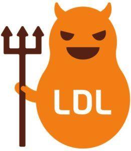 ldl-cholesterol afgebeeld als de slechterik