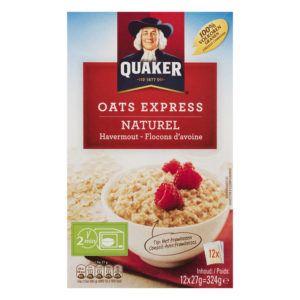 Oats express natural verpakking van het merk quaker