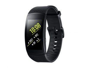 Samsung Gear Fit 2 Pro zwarte horloge op witte achtergrond