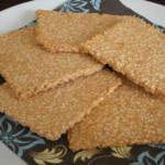 Sesam open u: crackers met sesamzaad