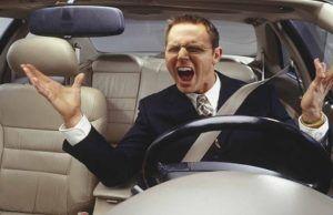 Stress in de auto