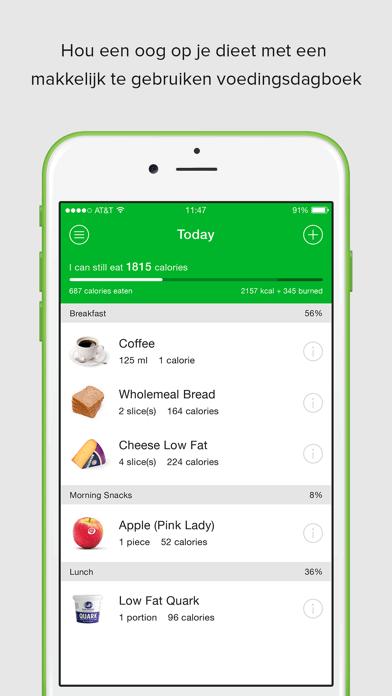 Carb Manager Keto Diet App op scherm van smartphone