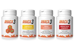 verschillende Anaca3 supplementenpotjes langs elkaar