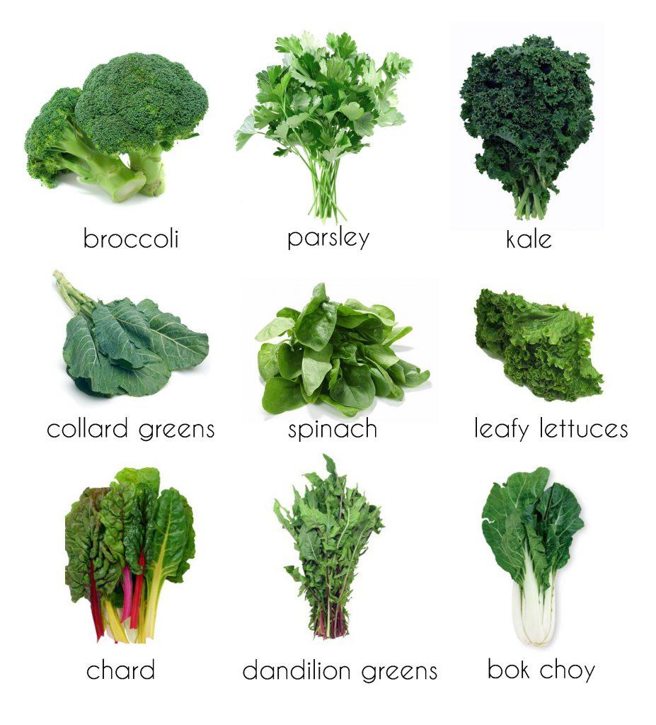 9 soorten bladgroenten