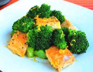brocolli met zalm