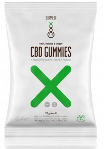 CBD gummies in verpakking van het merk Supmed