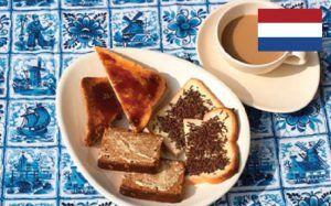 hagelslag met witbrood en tostibrood als nederlands ontbijt