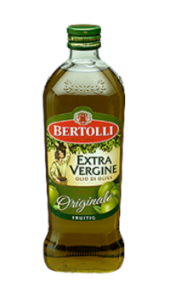 extra vergine olijfolie fles van bertolli