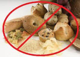 graanproducten afgebeeld als ongezond met rood kruis