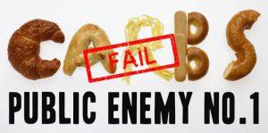 koolhydraten geïllustreerd als het #1 gevaar voor de volksgezondheid