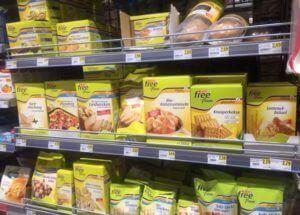 Glutenvrije voedingsproducten in supermarkt