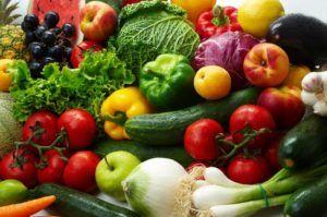 verschillende soorten groenten bij elkaar