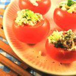 Pittig duo: tomaten met hüttenkäsevulling