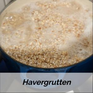 Havergrutten in een pan