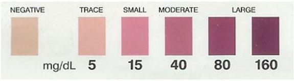 ketose kleurenkaart