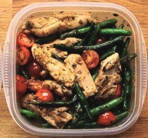kip met groenten
