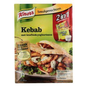 Kebab smaakstoffen in verpakking van het merk Knorr