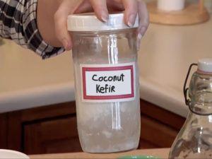 Kokosnoot kefir in weck-pot