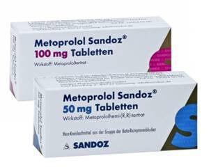 métoprolol 50 mg et 100 mg