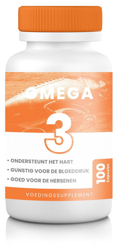 omega 3 supplement met 100 capsules in oranje potje