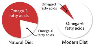 part des oméga-3 et oméga-6 dans l'alimentation