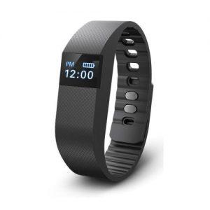 activity tracker horloge kleur zwart op witte achtergrond