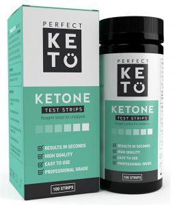 Ketostix Teststrips verpakking en flesje