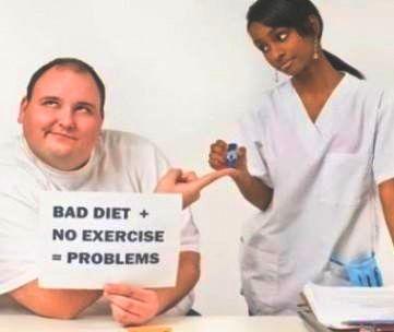 Ongezond eten en geen beweging leidt tot gezondheidsproblemen
