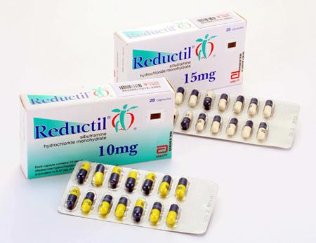 Reductil 15 mg en 10 mg doosjes met capsules
