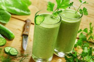twee groene smoothies