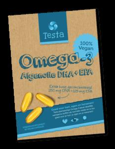 Veganistische algenolie van het merk Testa