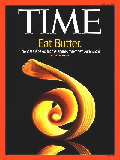 Tijdschrijft Time over boter als onterechte vijand