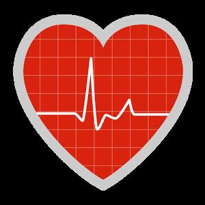 hartslag symbool in de vorm van een hart