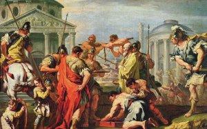 Schilderij van Romeinse burgers
