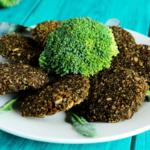 Vegetarische broccoliburgers met Parmezaanse kaas