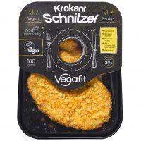 krokante schnitzel van vegafit in product verpakking