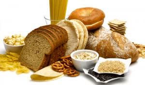 verschillende soorten voedingsmiddelen rijk aan gluten