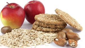 appels, zaden en noten op voorgrond