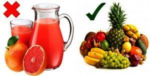 Renoncez aux jus de fruit