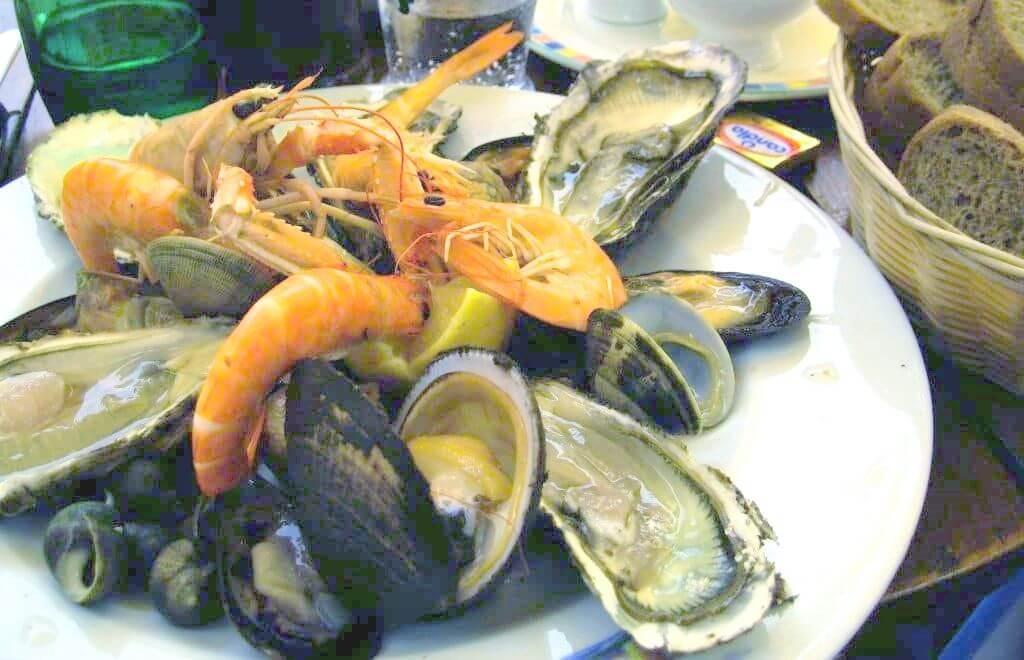 Les fruits de mer sont riches en cholestérol